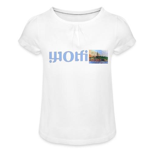 WOLFI5 - Mädchen-T-Shirt mit Raffungen