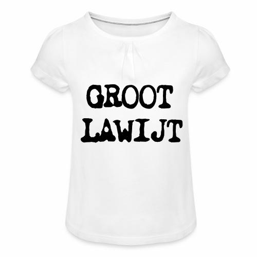 Groot Lawijt - Meisjes-T-shirt met plooien