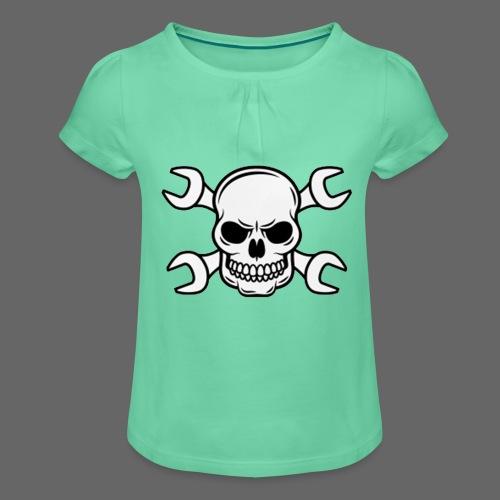 MEKKER SKULL - Pige T-shirt med flæser