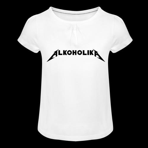 Alkoholika Official - Mädchen-T-Shirt mit Raffungen