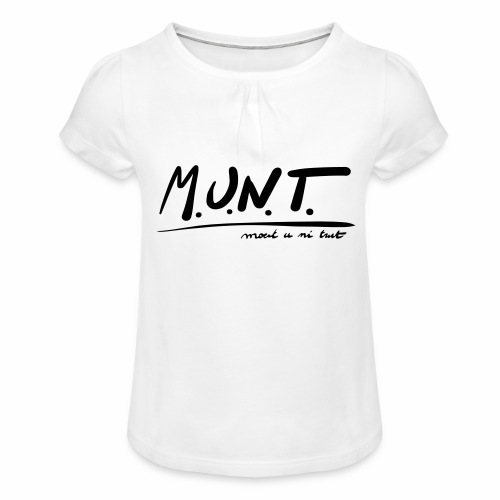 Munt - Meisjes-T-shirt met plooien