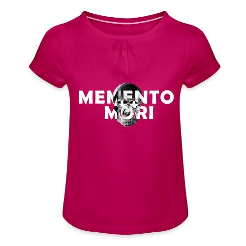 54_Memento ri - Mädchen-T-Shirt mit Raffungen