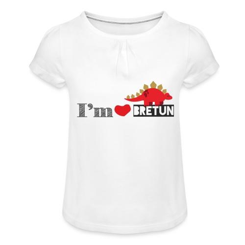 bretun negro - Camiseta para niña con drapeado