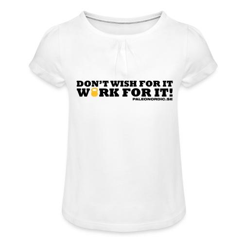 workforitsmal - T-shirt med rynkning flicka