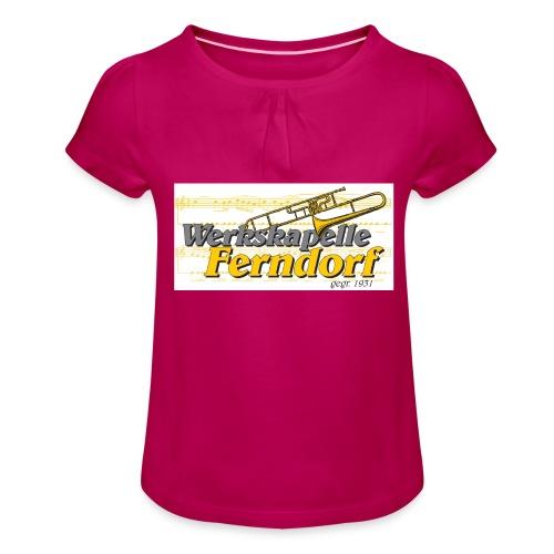 Logo WK Ferndorf - Mädchen-T-Shirt mit Raffungen