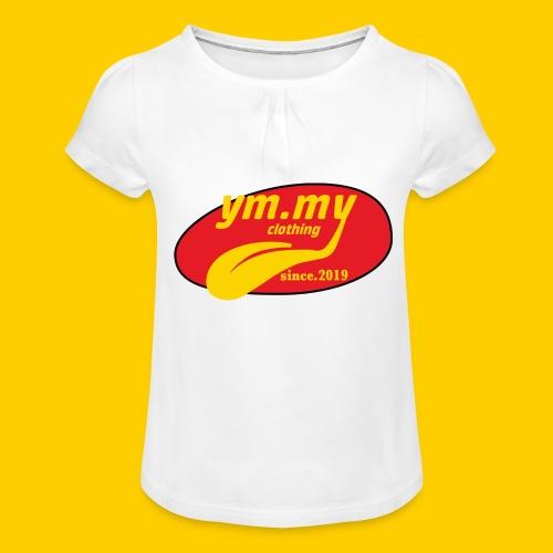 YM.MY clothing LOGO - Girl's T-Shirt with Ruffles