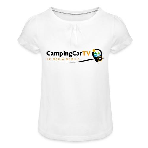 LOGO CCTV - T-shirt à fronces au col Fille