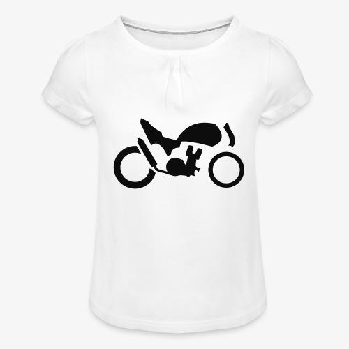 Streetfighter M4 - Mädchen-T-Shirt mit Raffungen