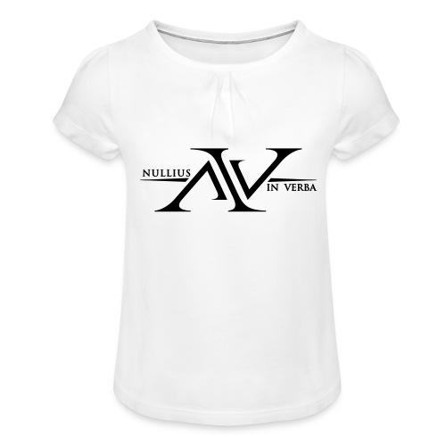 Nullius In Verba Logo - Girl's T-Shirt with Ruffles