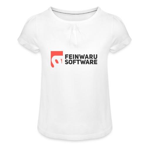 Feinwaru Full Logo - Girl's T-Shirt with Ruffles