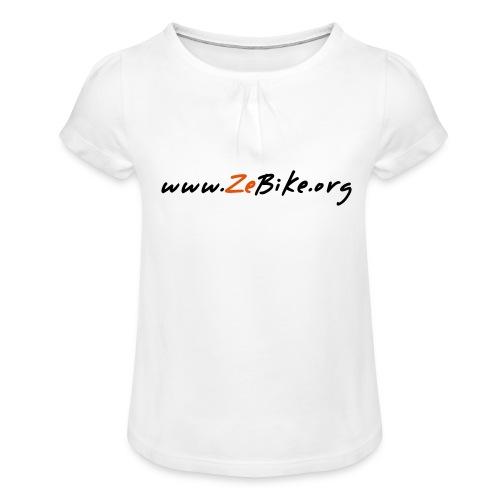 wwwzebikeorg s - T-shirt à fronces au col Fille