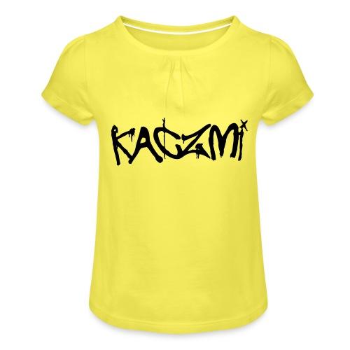 kaczmi - Koszulka dziewczęca z marszczeniami
