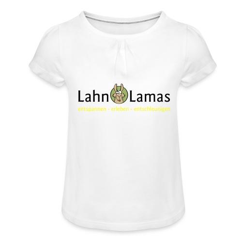 Lahn Lamas - Mädchen-T-Shirt mit Raffungen