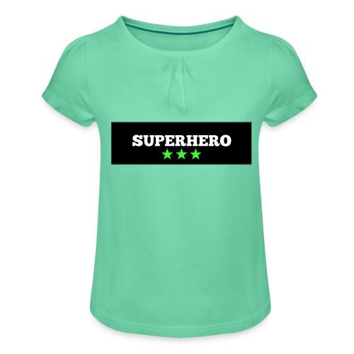 Lätzchen Superhero - Mädchen-T-Shirt mit Raffungen
