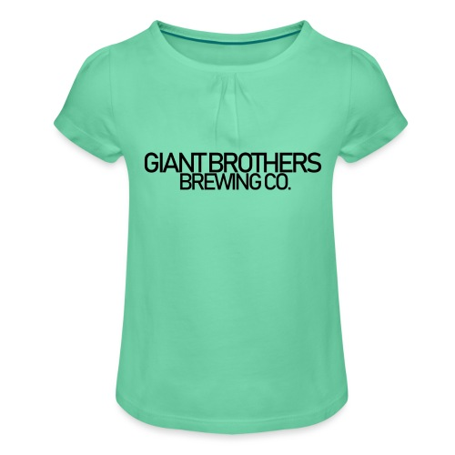 Giant Brothers Brewing co SVART - T-shirt med rynkning flicka