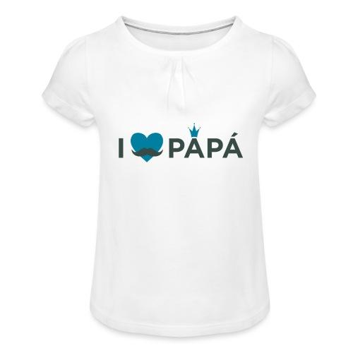 ik hoe van je papa - T-shirt à fronces au col Fille