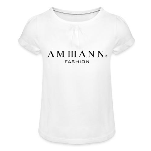 AMMANN Fashion - Mädchen-T-Shirt mit Raffungen