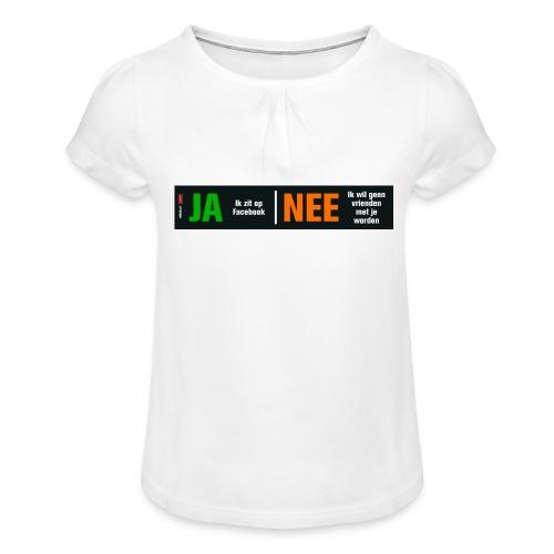 facebookvrienden - Meisjes-T-shirt met plooien