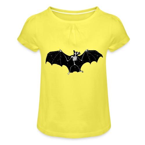 Bat skeleton #1 - Girl's T-Shirt with Ruffles