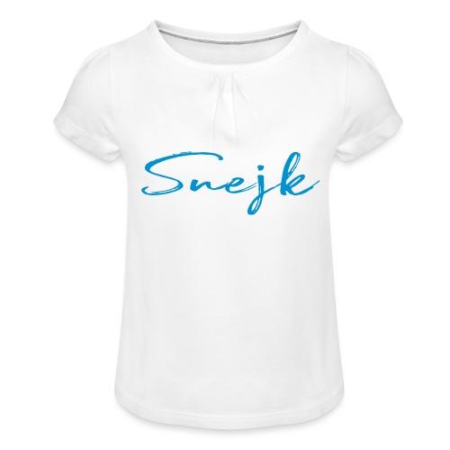 Snejk - T-shirt med rynkning flicka