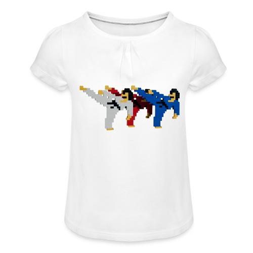 8 bit trip ninjas 2 - Girl's T-Shirt with Ruffles