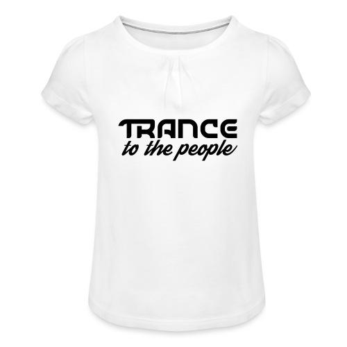 Trance to the People Sort Logo - Pige T-shirt med flæser