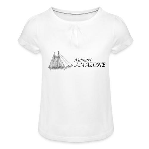 vessel-png - Tyttöjen t-paita, jossa rypytyksiä