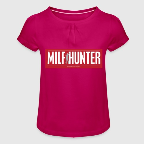 MILFHUNTER1 - Pige T-shirt med flæser