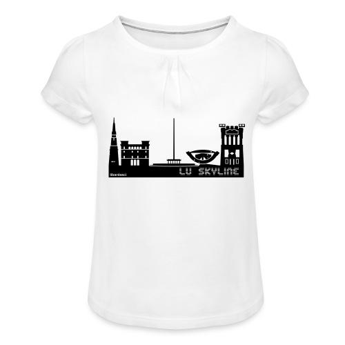Lu skyline de Terni - Maglietta da ragazza con arricciatura