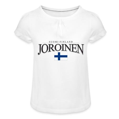 Suomipaita - Joroinen Suomi Finland - Tyttöjen t-paita, jossa rypytyksiä