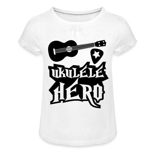 Ukelele Hero - Girl's T-Shirt with Ruffles