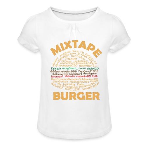 MixTape - Mädchen-T-Shirt mit Raffungen