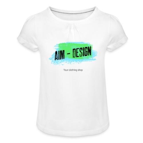 Aim Design - Mädchen-T-Shirt mit Raffungen