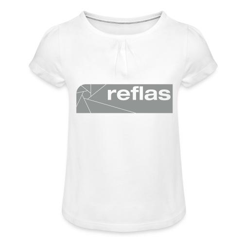 Reflas Clothing Black/Gray - Maglietta da ragazza con arricciatura