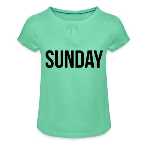 Sunday - Girl's T-Shirt with Ruffles