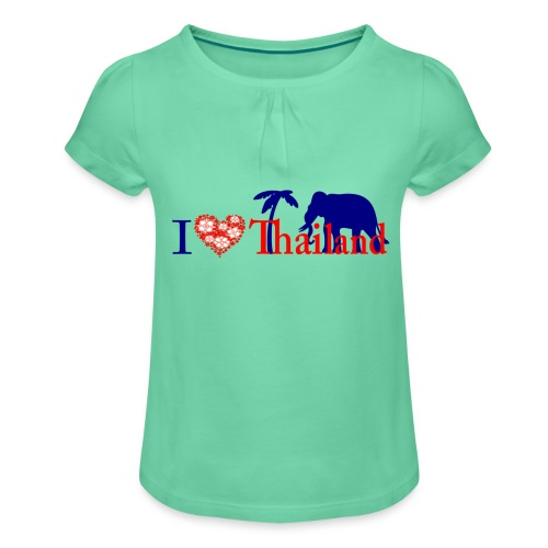 I love Thailand - Girl's T-Shirt with Ruffles