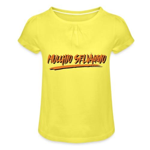 Mucchio Selvaggio 2016 Dirty Orange - Maglietta da ragazza con arricciatura