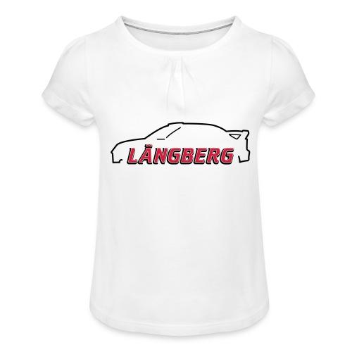 logotype Laengberg - T-shirt med rynkning flicka