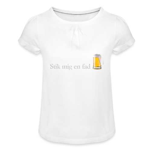Stik mig en fad af Dale & Nilsson - Pige T-shirt med flæser