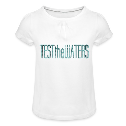 TESTtheWATERS BETA BLUE - Girl's T-Shirt with Ruffles