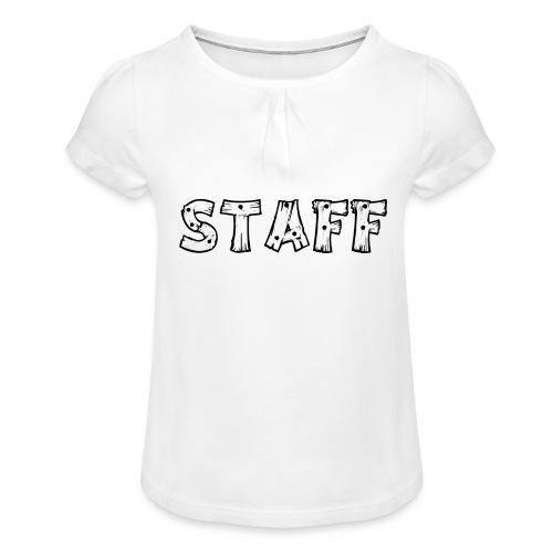 STAFF - Maglietta da ragazza con arricciatura