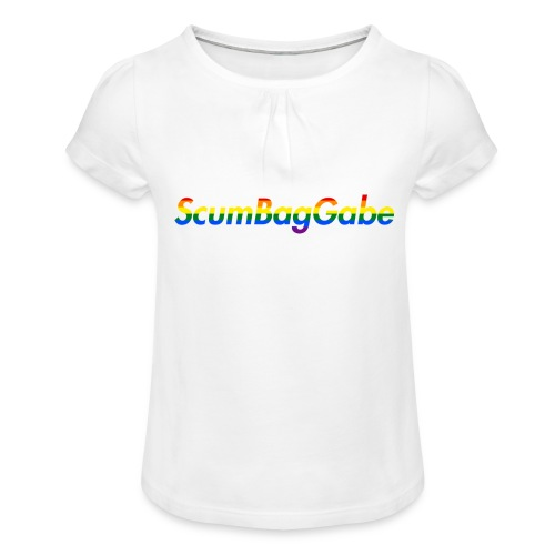 ScumBagGabe Multi Logo XL - Girl's T-Shirt with Ruffles