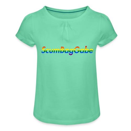 ScumBagGabe Multi Logo XL - Girl's T-Shirt with Ruffles