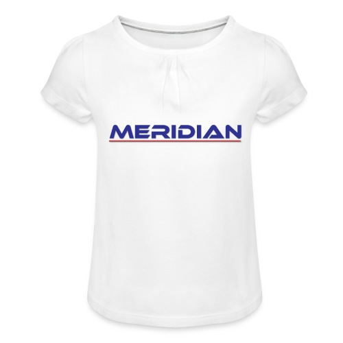 Meridian - Maglietta da ragazza con arricciatura