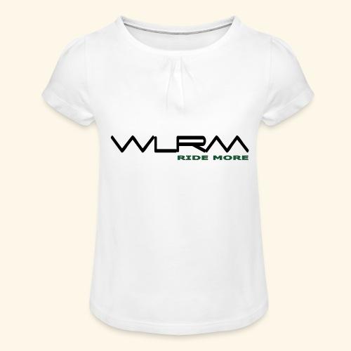 WLRM Schriftzug black png - Mädchen-T-Shirt mit Raffungen