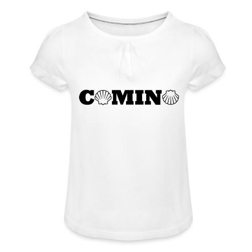 Camino - Pige T-shirt med flæser