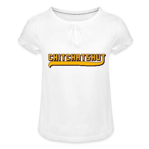Logo - Girl's T-Shirt with Ruffles