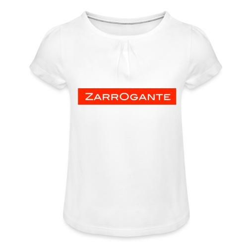BasicLogoRed - Maglietta da ragazza con arricciatura