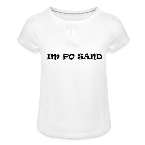 IM PO SAND Unterwäsche - Mädchen-T-Shirt mit Raffungen