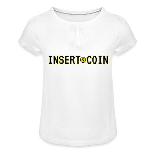 Insert Coin - Maglietta da ragazza con arricciatura